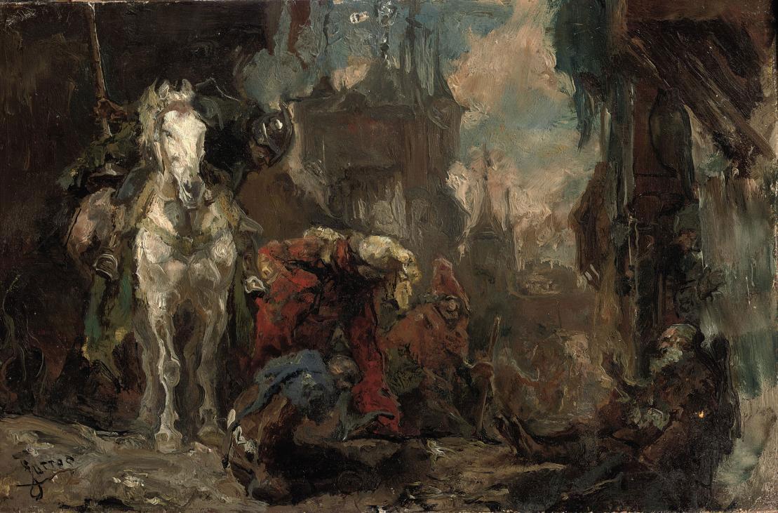 A street gathering