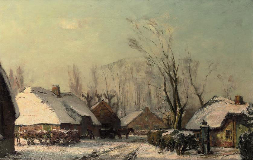 Farms in winter