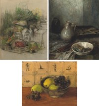 A still life with fruits in a bowl
