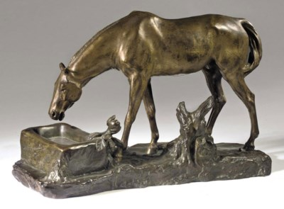 A FRENCH BRONZE MODEL OF A DRI