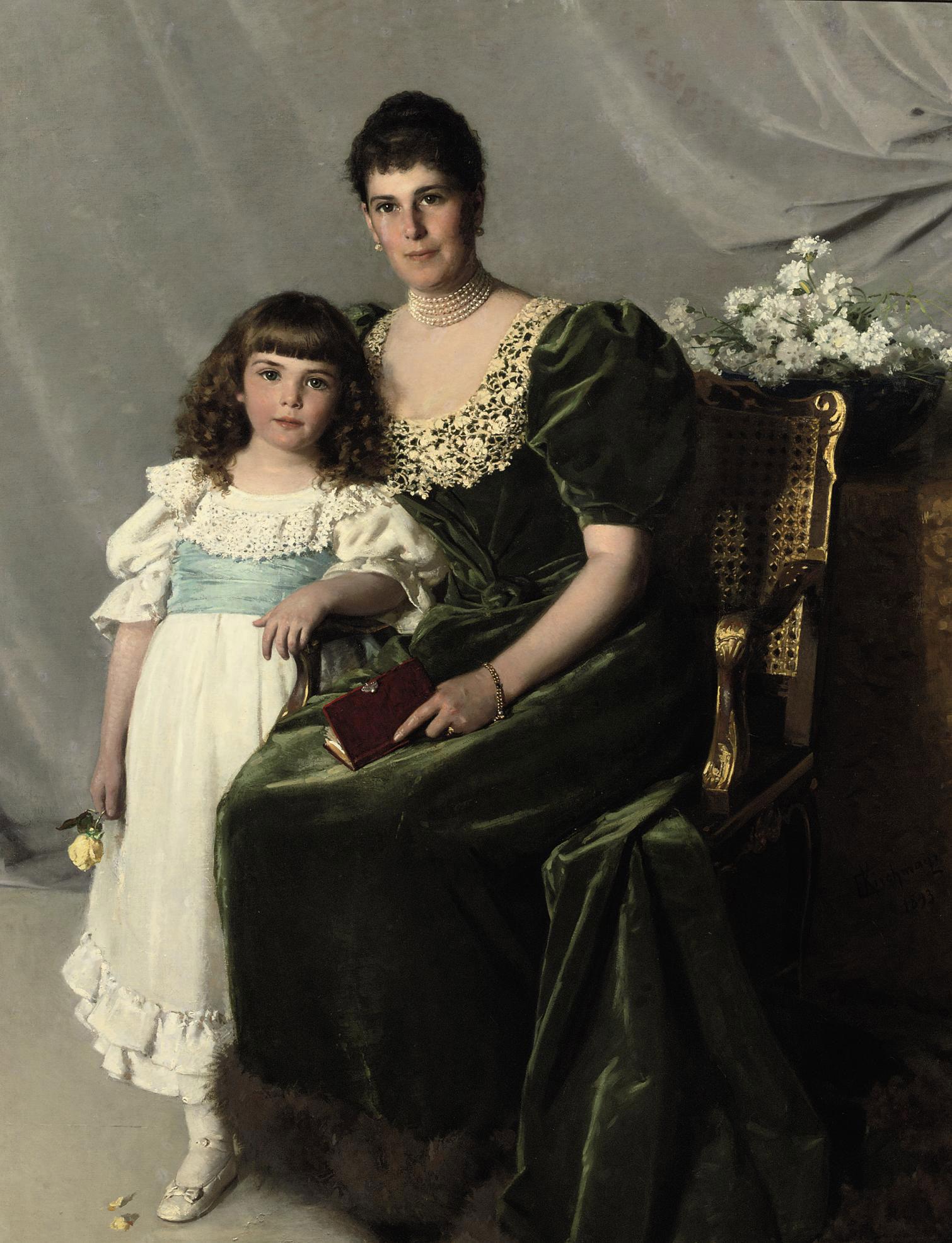 Portrait of Countess Marie Louise Larisch von Moennich and her daughter Marie Henriette
