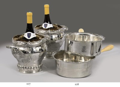 A pair of German silver wine-c