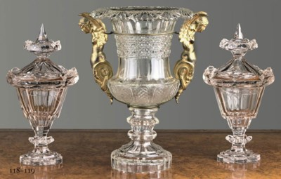 A PAIR OF FRENCH GLASS GINGER