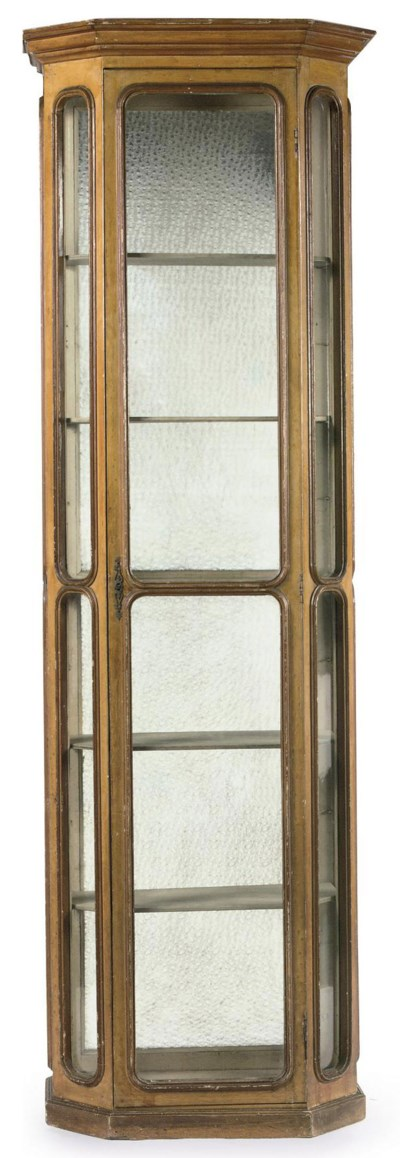 A FRENCH GRAINED WOOD DISPLAY
