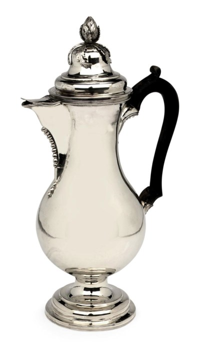 A Dutch silver coffee-pot and