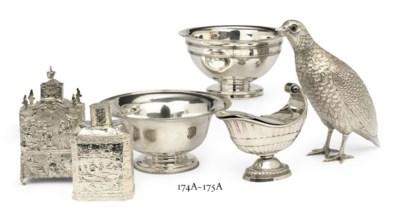 Two Dutch silver slob-bowls