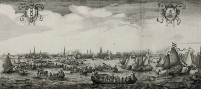 A DUTCH ENGRAVING DEPICTING MA