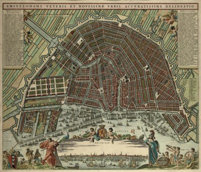 A HANDCOLOURED ENGRAVED MAP OF