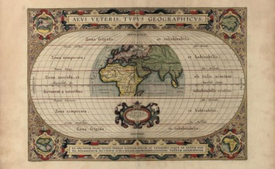A HANDCOLOURED ENGRAVED WORLD