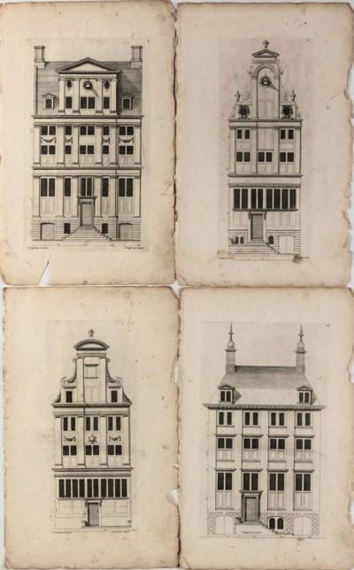 FOUR DUTCH ARCHITECTURAL ENGRA