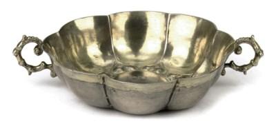 A Polish parcel-gilt silver br
