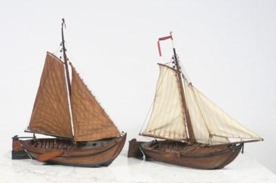 A DUTCH WOODEN MODEL OF A 'PLA