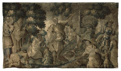 AN AUBUSSON BIBLICAL TAPESTRY