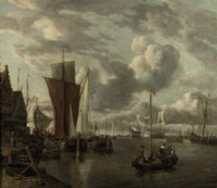 Quayside with extensive shipping