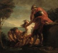 Achilles comforted by Thetis