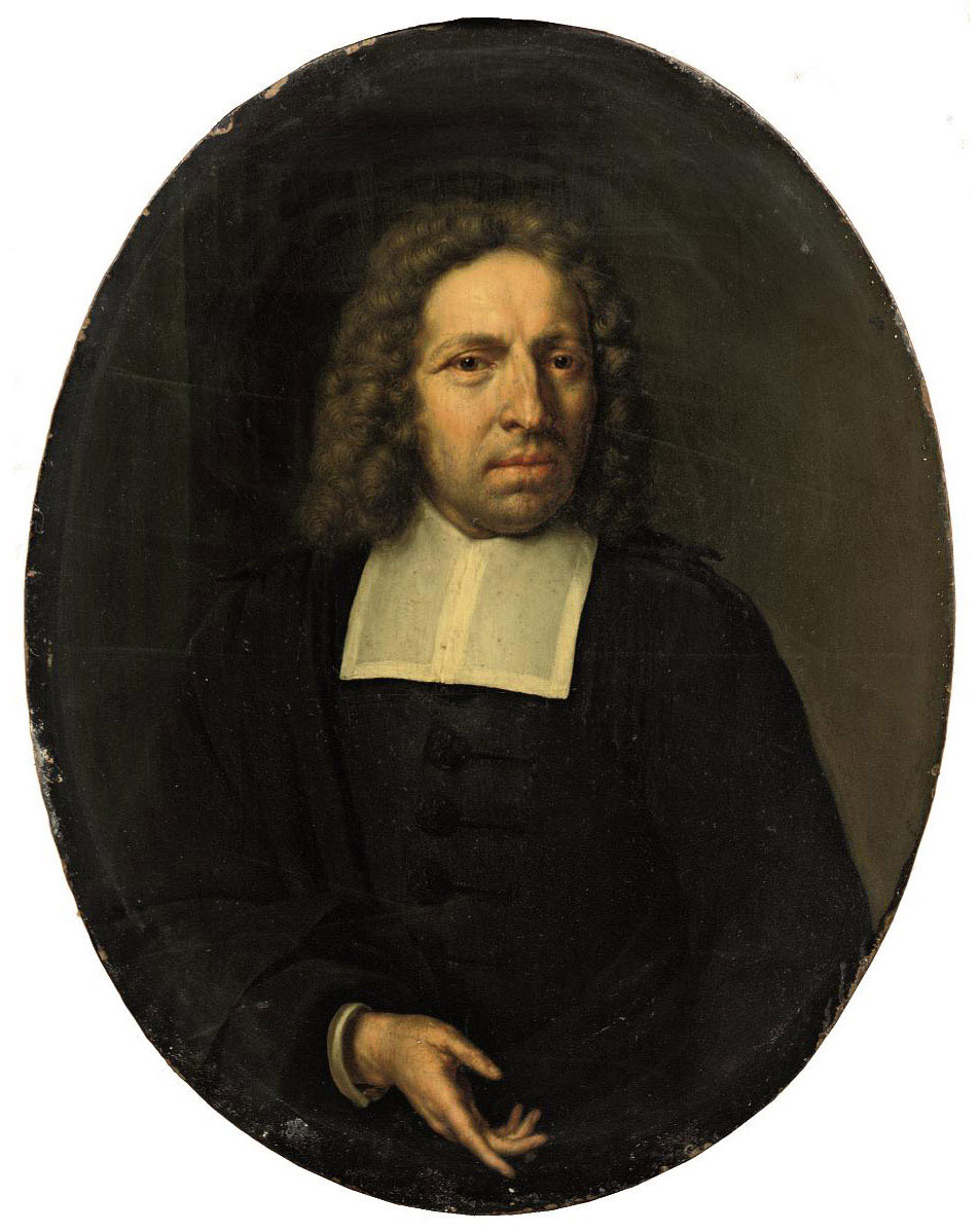 Portrait of a gentleman, half-length, in a black costume with a white collar