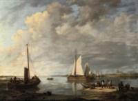 Shipping on a calm estuary