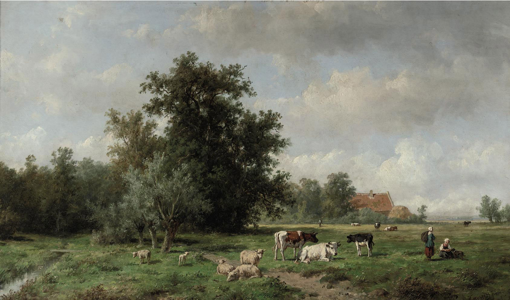 Cattle in a summer landscape