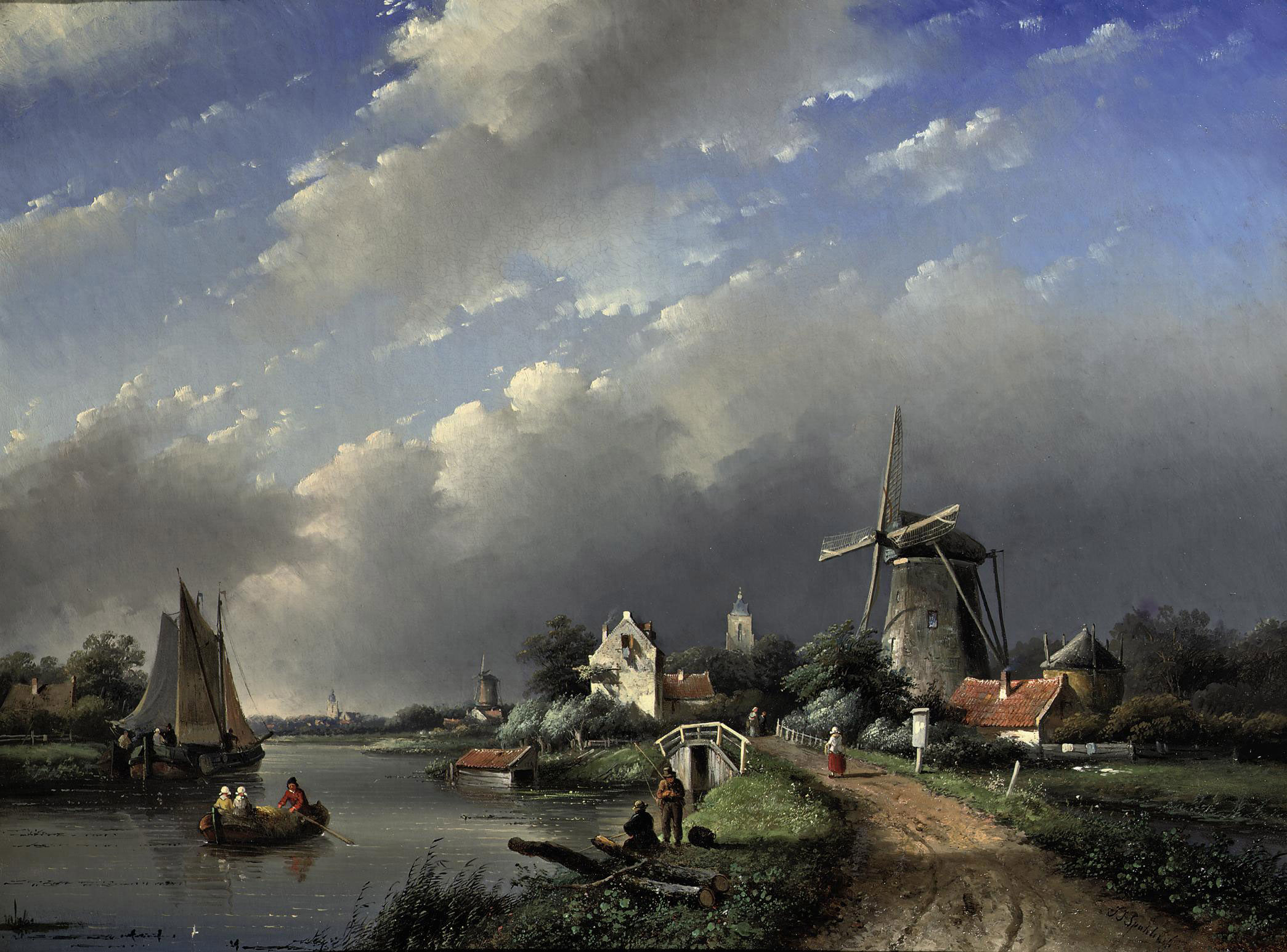 Activities on a Dutch river