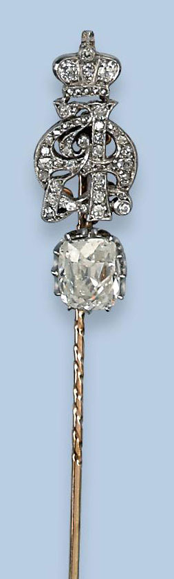 A RUSSIAN DIAMOND TIE PIN