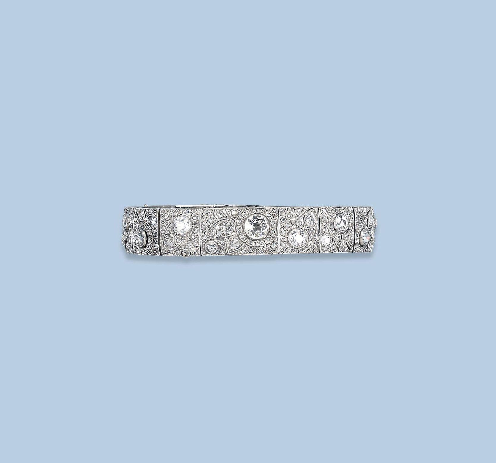 A BELLE EPOQUE DIAMOND BRACELET