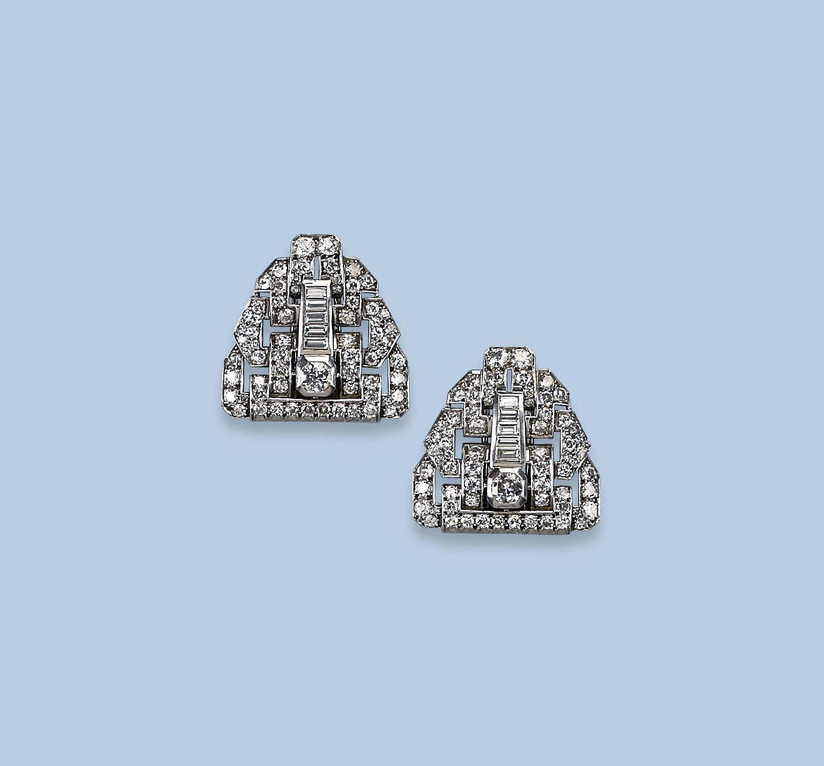 A PLATINUM ART DECO DIAMOND DO