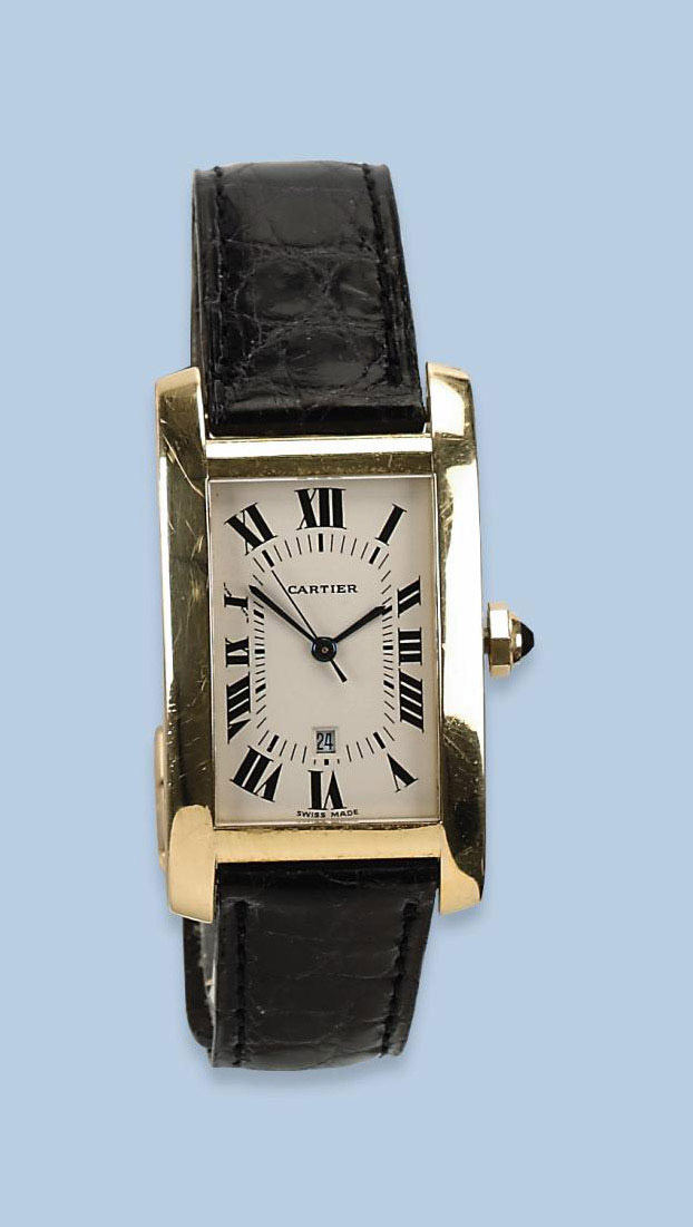 AN 18K YELLOW GOLD AUTOMATIC W