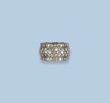 A DIAMOND BAND RING, BY CARTIE