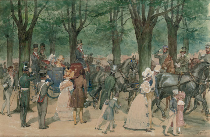 Queen Wilhelmina on a riding tour