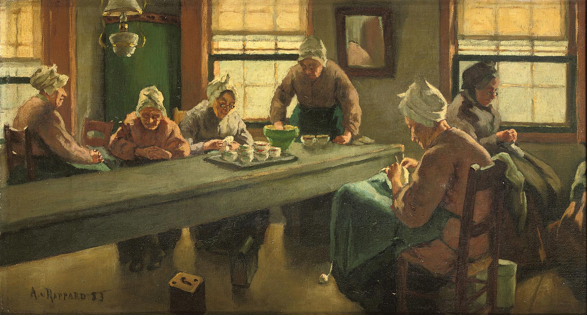アントン・ファン・ラッパルト『ウェスト=テルスへリングの老婦たちの家』