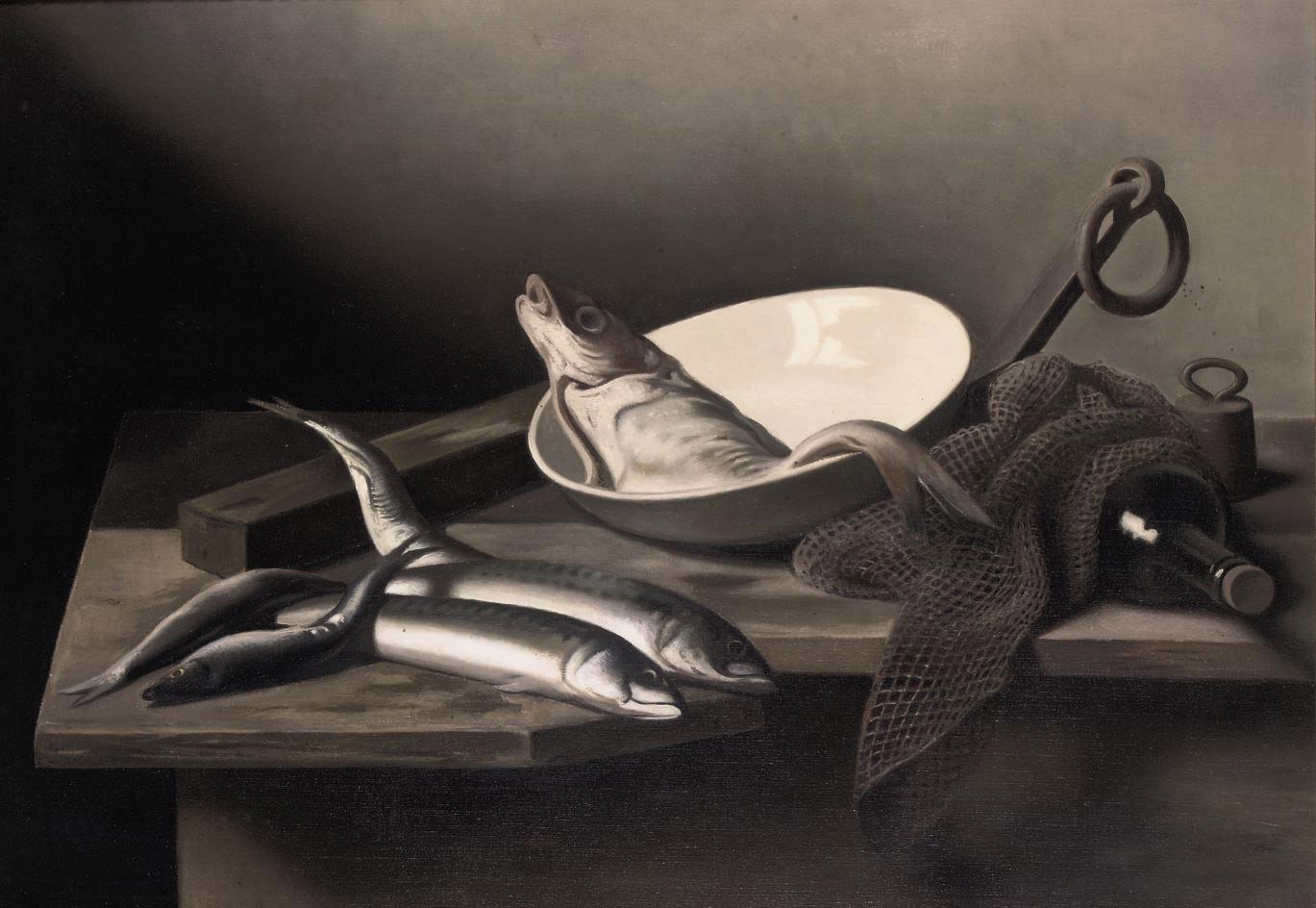 Stilleven met vissen: still life with fish
