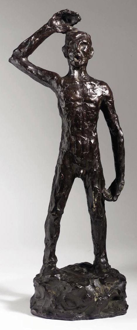 A man standing
