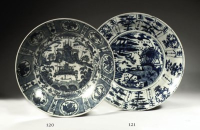 A CHINESE BLUE AND WHITE SWATO