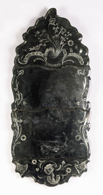 A NORTH EUROPEAN ETCHED MIRROR