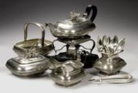 A Dutch silver five-piece tea-service
