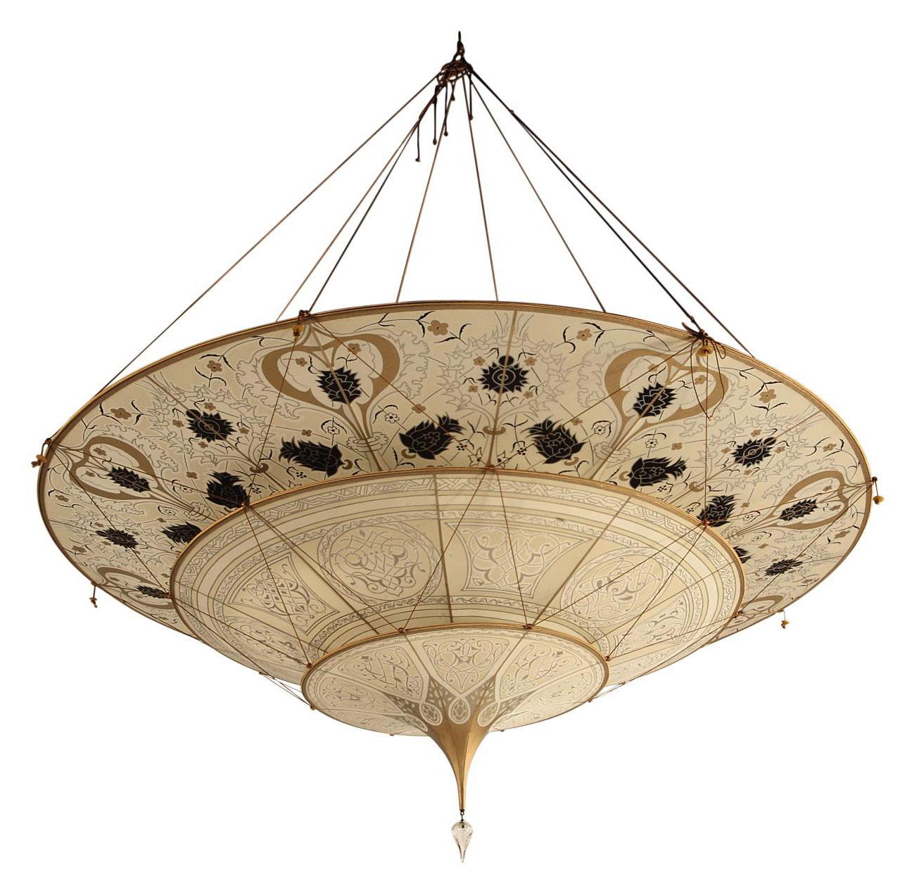 A venetian silk fortuny chandelier 20th century chandelier lot 585 aloadofball Choice Image