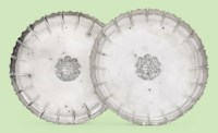 A PAIR OF GEORGE III SILVER STRAWBERRY-DISHES