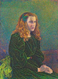 Jeune femme en robe verte (Germaine Maréchal)