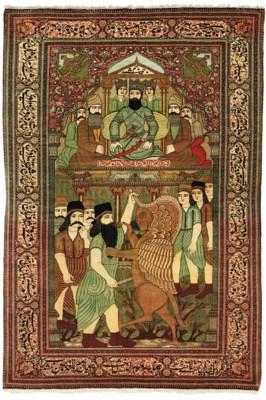 A KASHAN 'MOHTASHAM' PICTORIAL