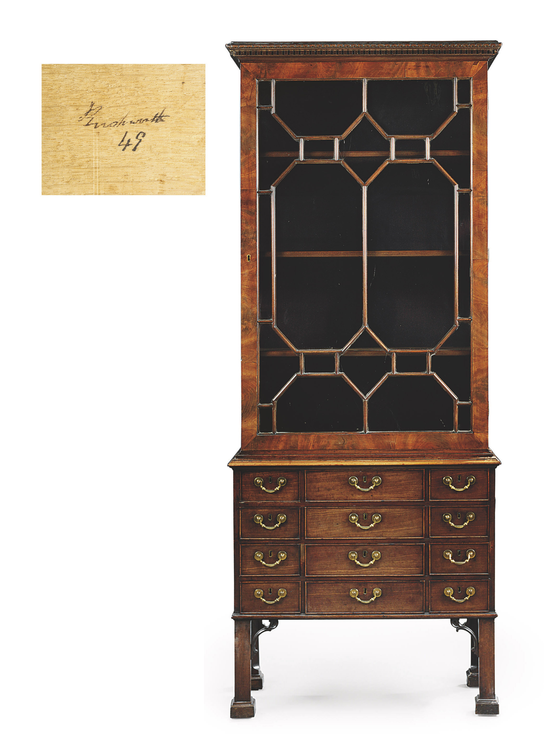 kitchen glass cabinets a george iii mahogany display cabinet on chest circa 1766