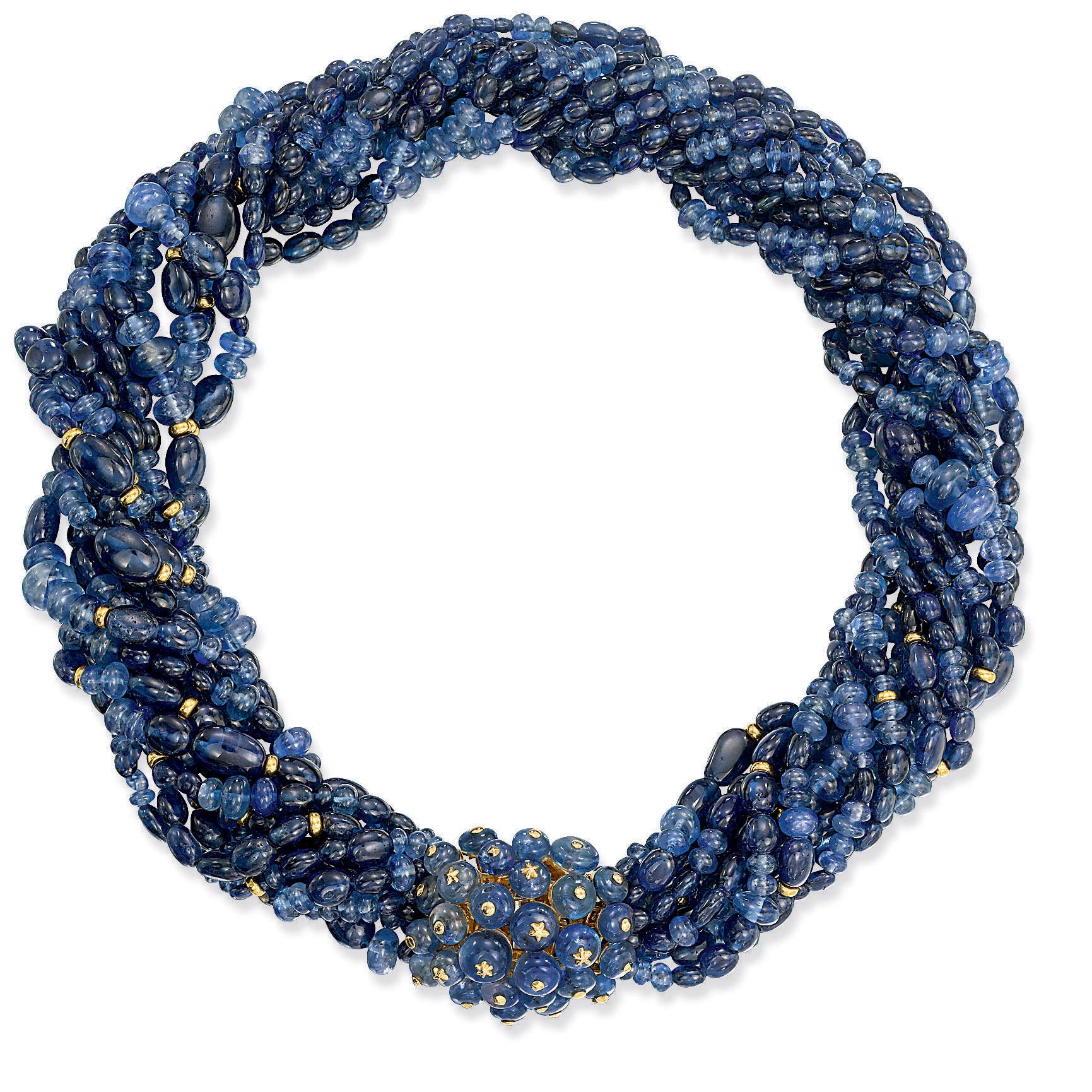 Torsade Necklace: A SAPPHIRE TORSADE NECKLACE