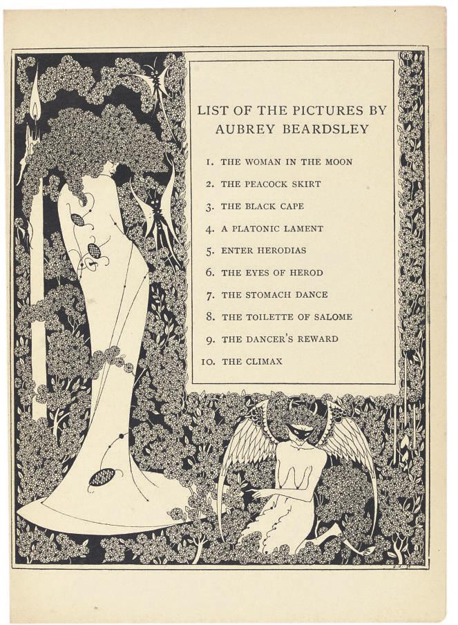 BEARDSLEY -- WILDE, Oscar (1854-1900). Salome. London: Elkin Mathews & John Lane, 1894.