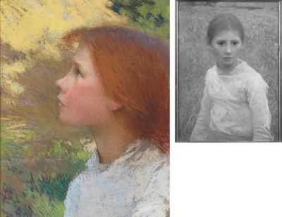 Head of a Peasant Woman by Sir George Clausen ... |Sir George Clausen Head Girls