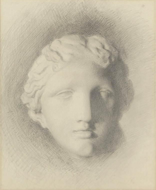 Study of the head of 'Venus de Medici' (recto); and A subsidiary study (verso)