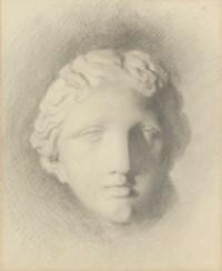 Study of the head of 'Venus de Medici' (recto); and A subsidiary study (verso)