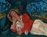 La sieste (Femme étendue sous un arbre)