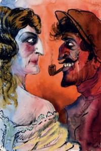 Französisches Ehepaar (Französisches Paar)