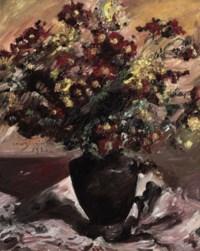 Gelbe und rote Astern (Herbstblumen)