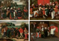 The procession of the bride; The procession of the groom; The wedding feast; and The blessing of the marriage