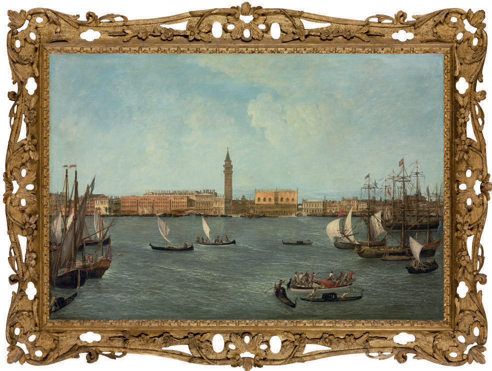 The Bacino di San Marco, Venice, looking towards the Molo